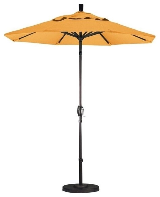 California Umbrella 7.5u0027 Market Patio Umbrella, Yellow Outdoor Umbrellas