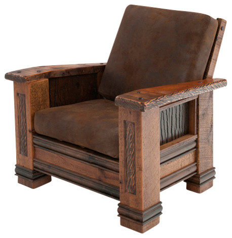 Upholstered Barn Wood Chair