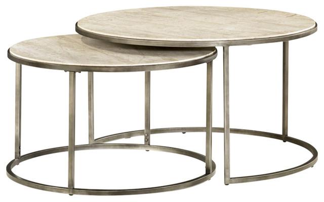 Charmant Hammary Modern Basics Round Nesting Cocktail Table 190 911