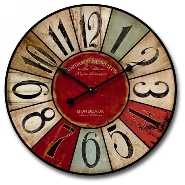 nora lane llc distressed wall clock multicolor wall clocks