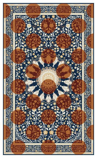 Designer Area Rug, Autumn, 150x250 cm