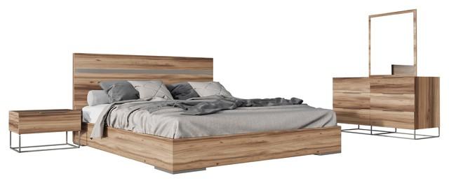 Nova Domus Lorenzo Italian Modern Light Oak Bedroom Set ...