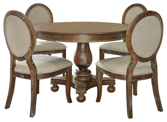 Powell Furniture Lenoir 5 Pc Dining Set Farmhouse Dining Sets