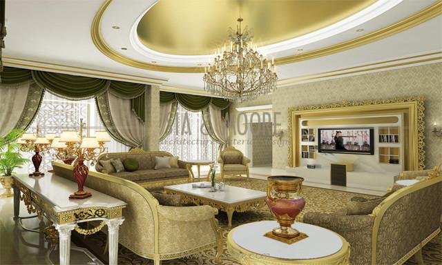 Doha Mansion 1 Qatar Traditional Living Room