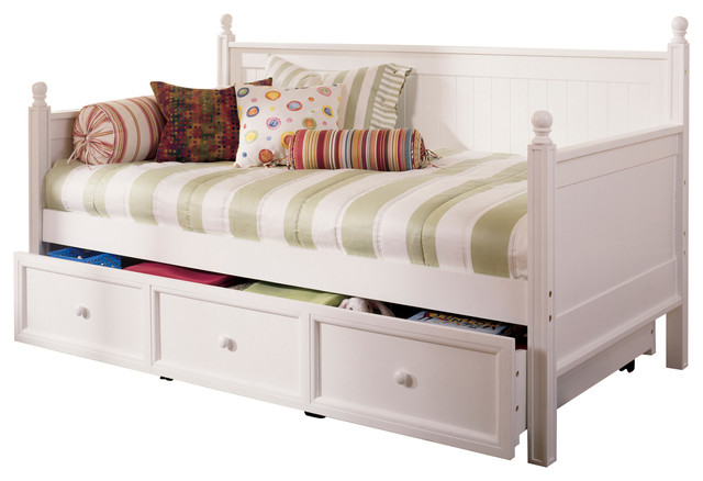 Clara Wood Daybed, White.