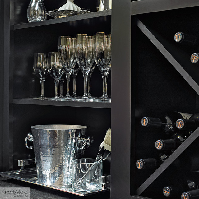 Kraftmaid wine storage in onyx contemporary detroit by kraftmaid - Types of beautiful wine racks for your home ...