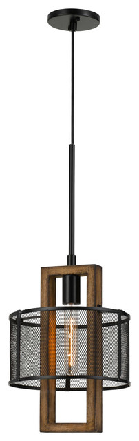 "Chandelier 1-Light FixtureWithWood Finish Metal/Wood Material E26 10"" 60W"