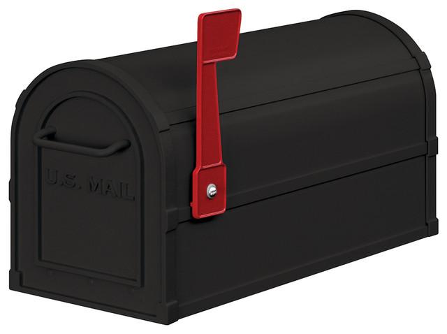 Heavy Duty Rural Mailbox - Black
