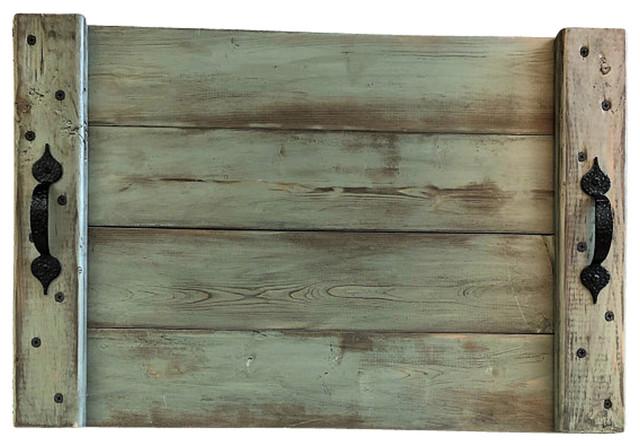Miraculous Distressed Sage Green Wood Serving Tray Rustic Decor Spiritservingveterans Wood Chair Design Ideas Spiritservingveteransorg