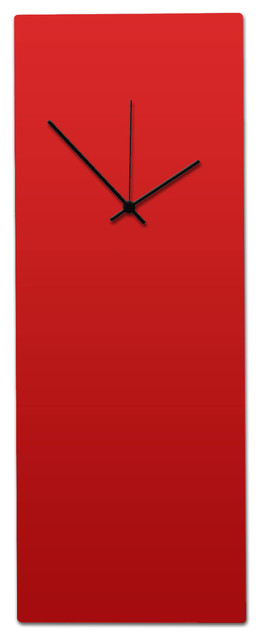 modern metal wall clock minimalist red and black