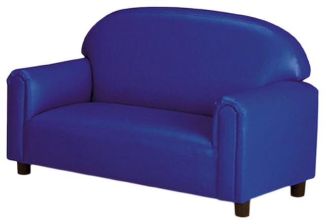 Amazing Brand New World Preschool Vinyl Upholstery Sofa Blue Alphanode Cool Chair Designs And Ideas Alphanodeonline