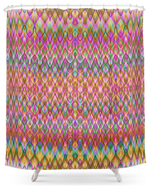 Amazing Society6 Missoni Style Shower Curtain Contemporary Shower Curtains