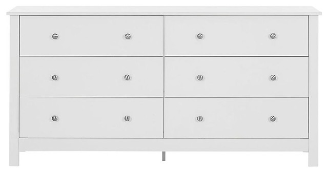 Florence 6-Drawer Chest, White