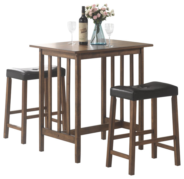 height bar table black button tufted cushion stool 3 piece set