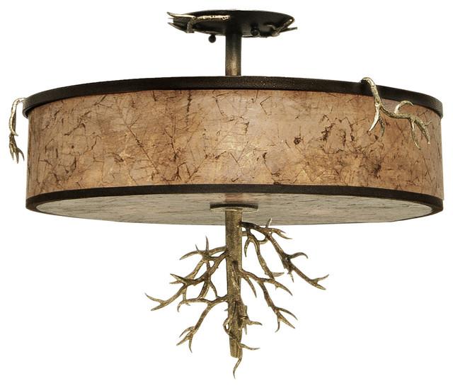 flush mount rustic flush mount ceiling lighting by littman bros. Black Bedroom Furniture Sets. Home Design Ideas