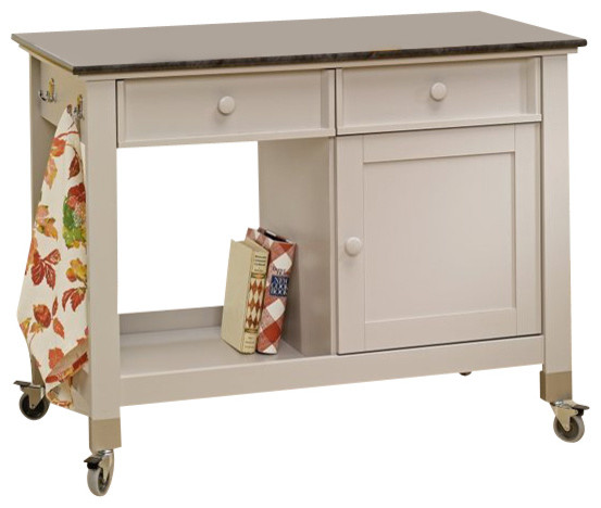 Sauder Original Cottage Mobile Kitchen Island In Cobblestone