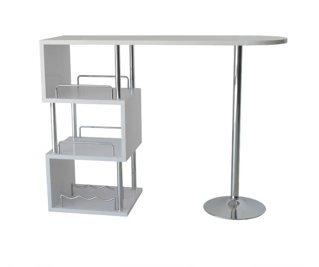 Modern Bar Table, White.
