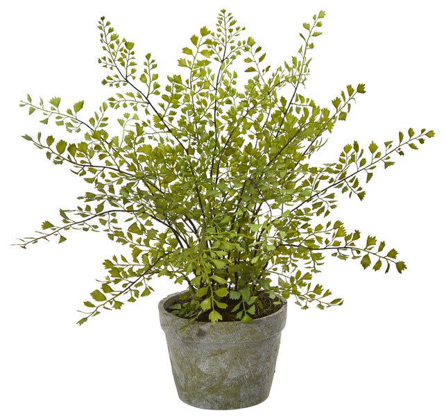 Maiden Hair Artificial Plant, Decorative Planter