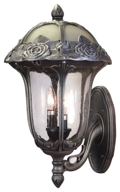 Large Bottom Mount Light in Black - Outdoor Wall Lights ... on Exterior Wall Sconce Light Fixtures id=95964