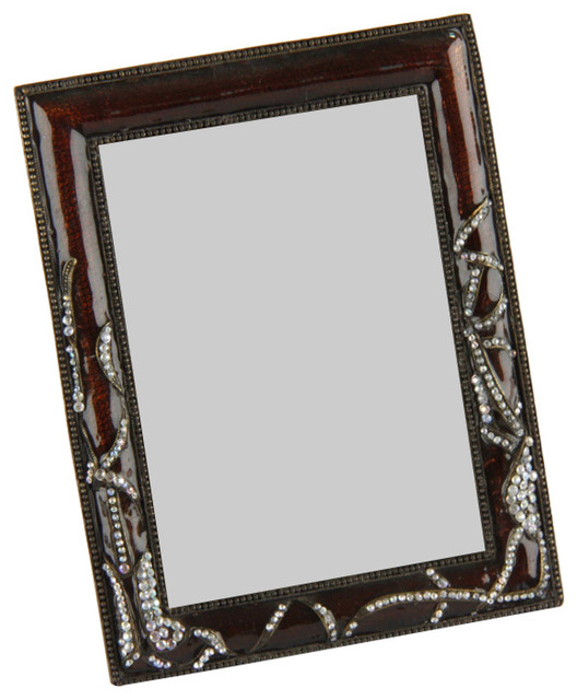 Royal Family Red Resin and Rhinestone Picture Frame - Traditional ...