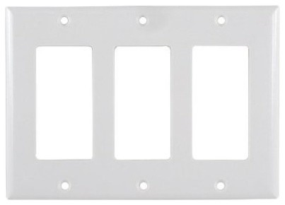 3 Switch Plate Impressive White 3Gang Decora Cover Plate  Contemporary  Switch Plates And Design Ideas