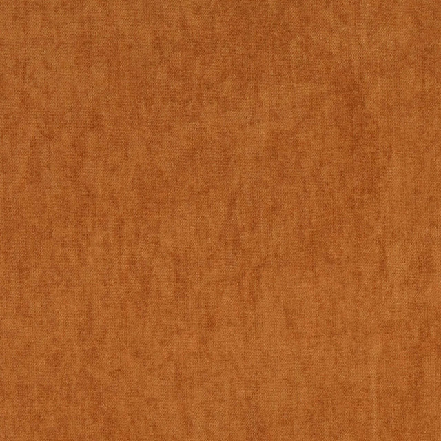 Burnt Orange Solid Antique Woven Velvet Upholstery Fabric By The Yard