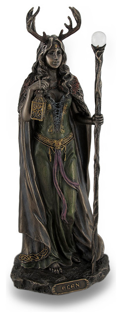 Incroyable Elen Of The Ways Bronze Finish Statue Pagan Goddess
