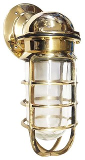 Nautical Bulkhead Sconce Indoor Outdoor Solid Brass