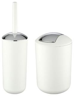 Wenko Brasil Toilet Brush and Holder and Bathroom Bin Set