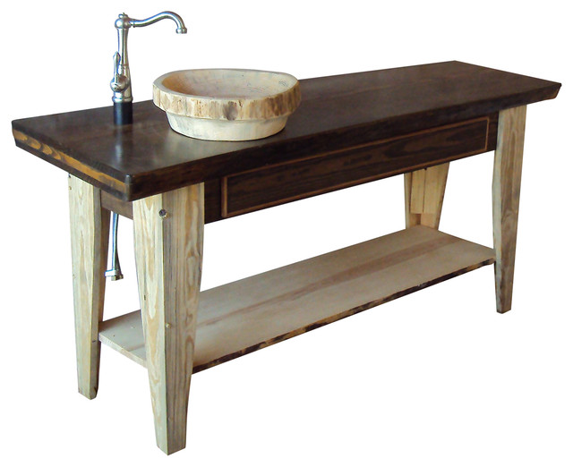 live edge slab top vanity farmhouse bathroom vanities and sink consoles by kevin raber. Black Bedroom Furniture Sets. Home Design Ideas