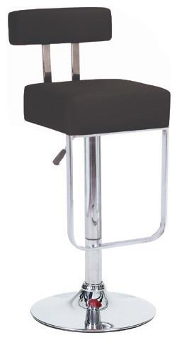 Blok Contemporary Adjustable Bar Stools, Black Licorice, Set Of 4  Contemporary Bar