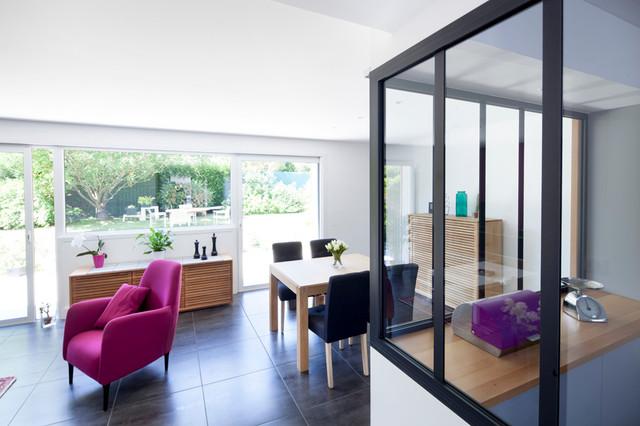 R novation avec ouverture du rdc cuisine et acc s jardin for Ouverture cuisine salon