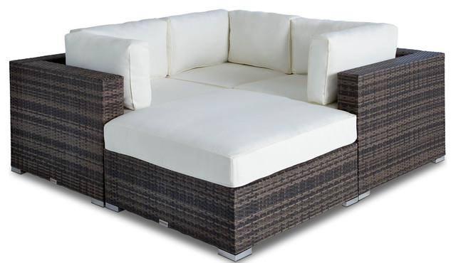 Remarkable Outdoor Patio Wicker Furniture Sofa Sectional 4 Piece Set Unemploymentrelief Wooden Chair Designs For Living Room Unemploymentrelieforg