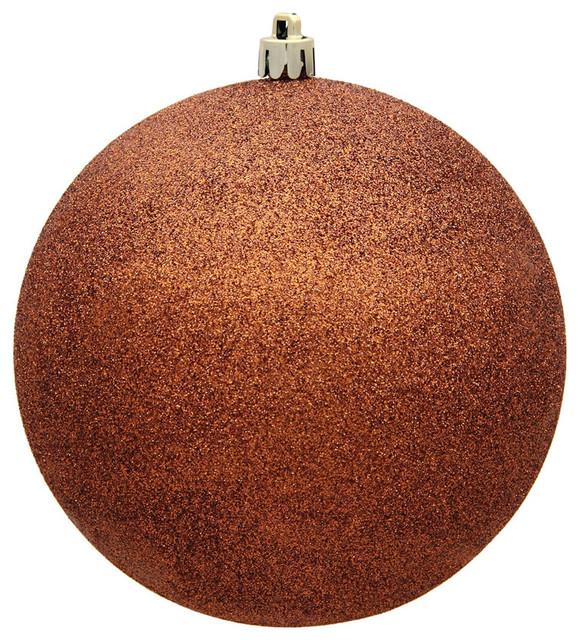 Copper Christmas Ornaments.Vickerman 12 Copper Glitter Ball Christmas Ornament