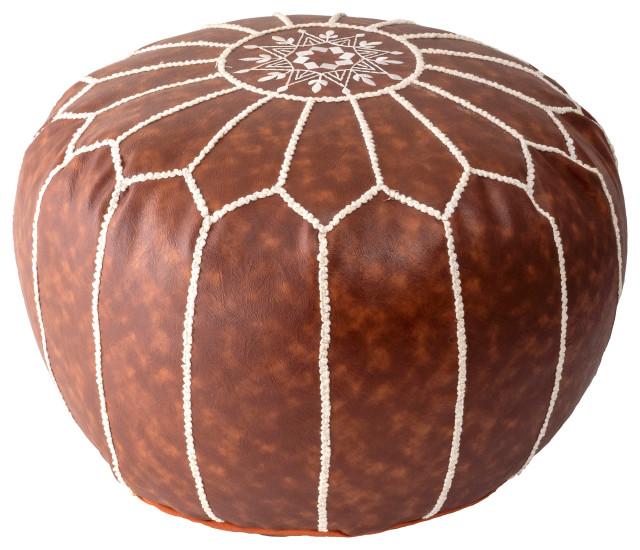 Ikat pouf cover 18 diameter round ottoman  cover grey floor cushion nursery decor