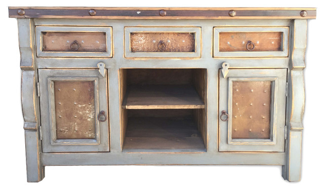 Wondrous Marshall 54 Rustic Double Vanity With Metal Inserts Vintage Gray Best Image Libraries Sapebelowcountryjoecom
