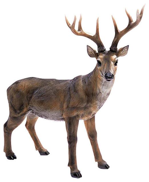 Big Rack Buck Deer Statue Traditional Garden Statues And Yard Art