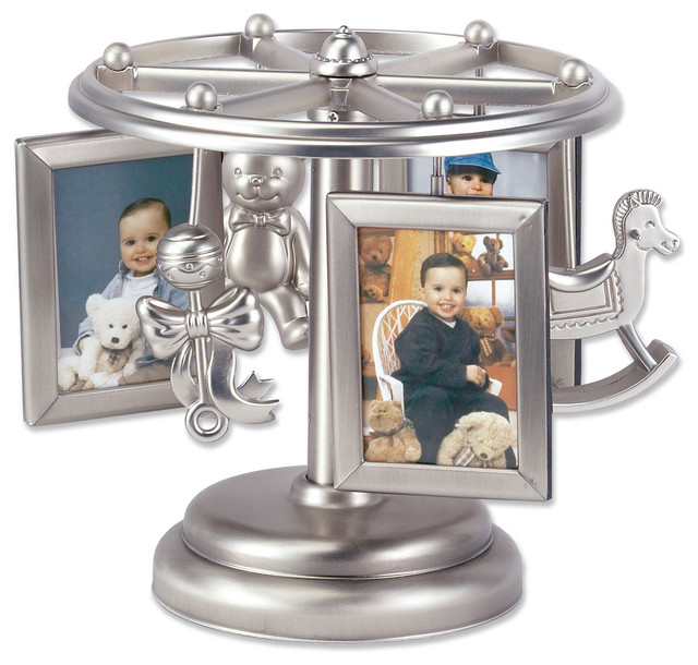 Baby Frame Go Round Multi 2x3 Picture Frame Wind Up Design