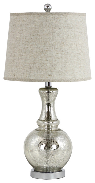 Aspire Home Accents, Inc.   Carly Antique Mercury Glass Table Lamp   Table  Lamps