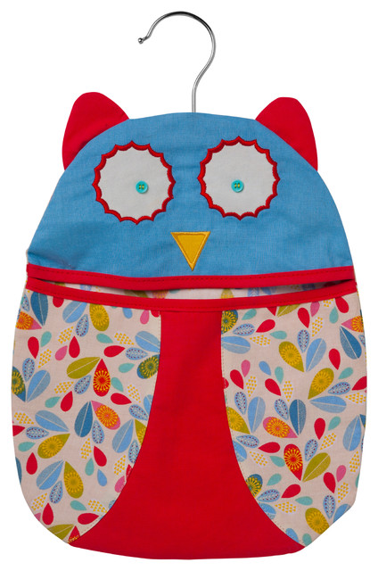 Owl Shaped Peg Bag.