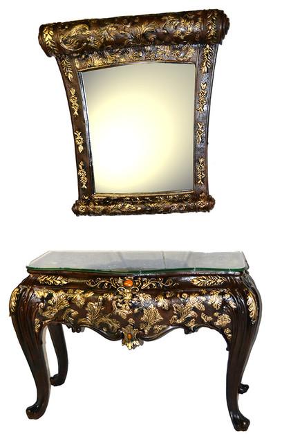 Decorative Alice In Wonderland Inspired Polyresin Fancy Table/Mirror Vanity  Set