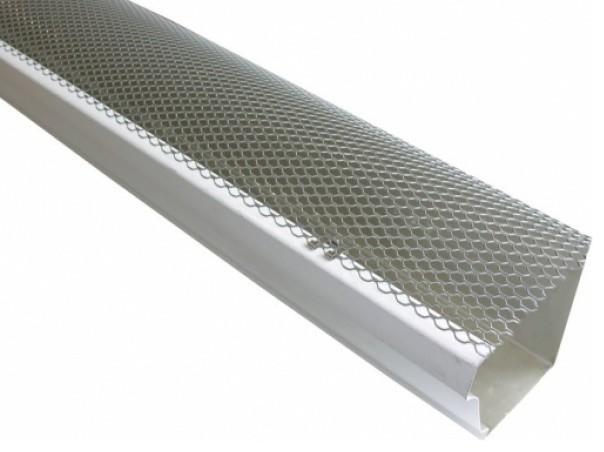 "K Style Aluminum Hinged Gutter Screen, 5""."
