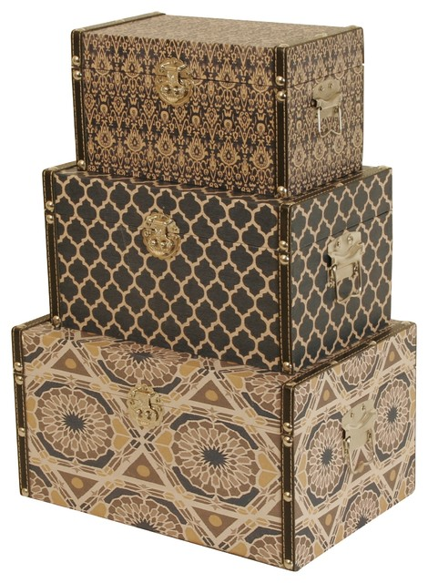 wald imports paperboard boxes set of 3 contemporary decorative boxes - Decorative Boxes