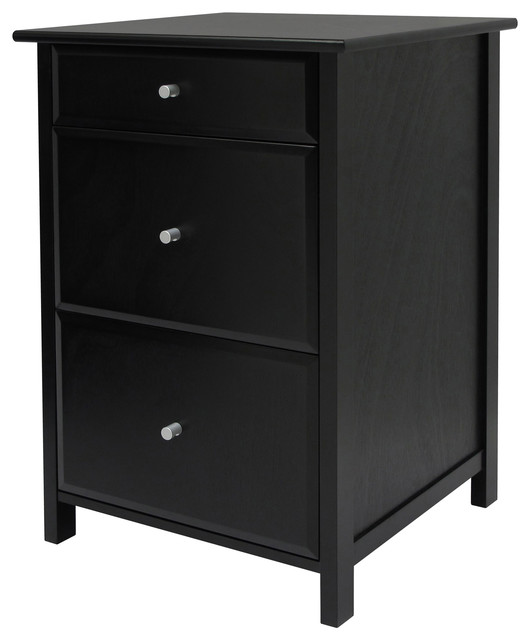Winsome Delta Home Office Wooden File Cabinet, Black.