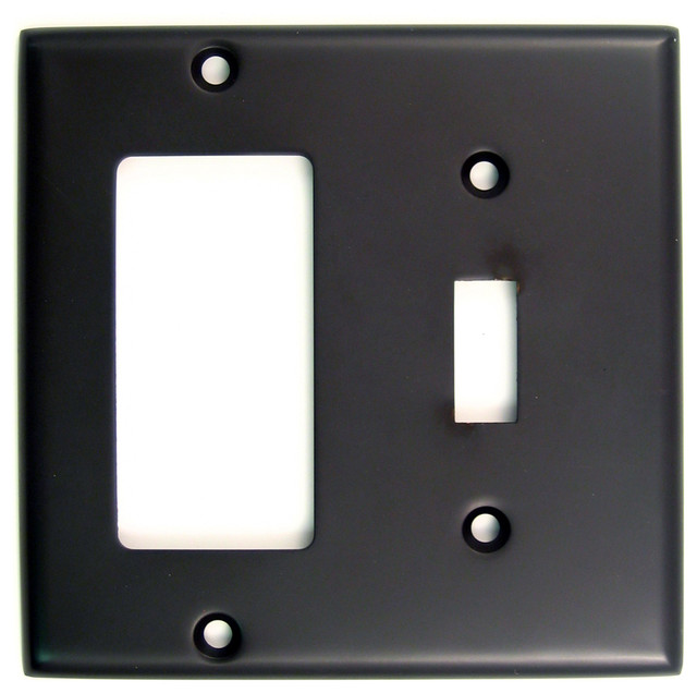 Double Rockerswitch Plate Contemporary Switch Plates And Outlet