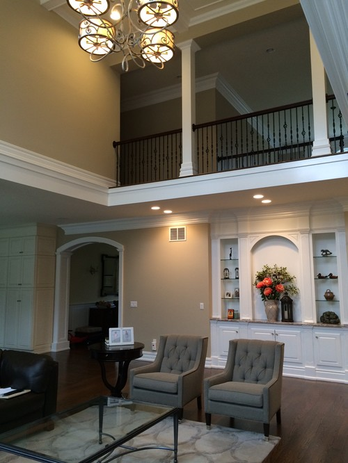 Two Story Fireplace Design Ideas Bathroomfurniturezone 2: Two Story Fireplace And Built-In Bookshelves