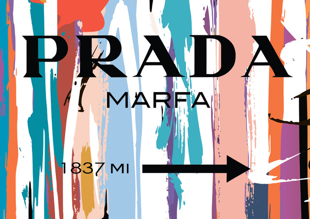 Prada Marfa Fashion Poster, Large.