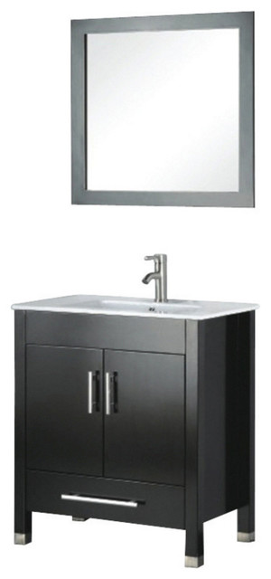 Theo Timeless Single Vanity, Espresso, 24.