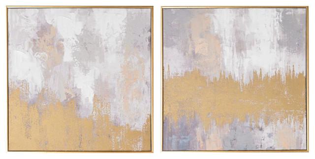 S/2 Laguna Mist Framed Canvas