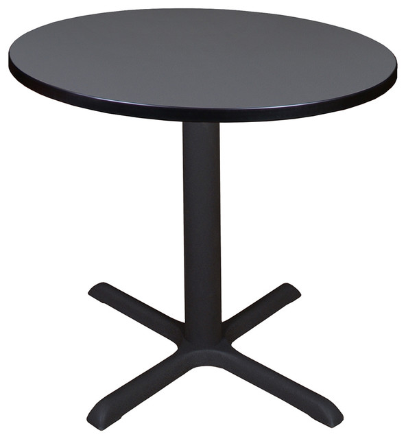 "Cain 30"" Round Table, Gray."